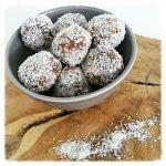 Chocolade en kokos bliss balls